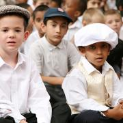 Children dressed as Victorians